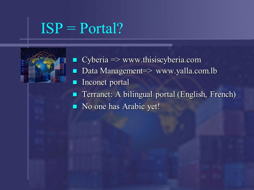 ISP = Portal.