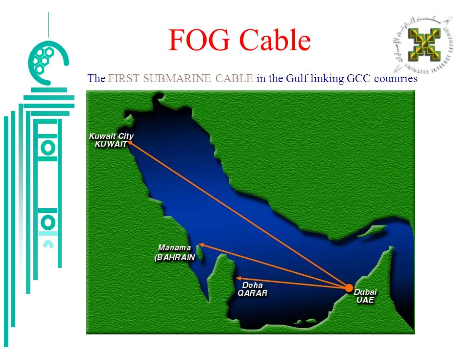 FOG Cable The FIRST SUBMARINE CABLE in the Gulf linking GCC countries