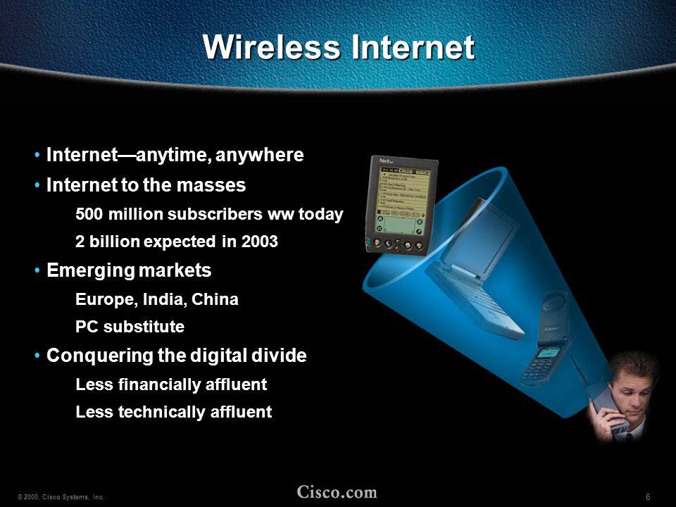 17 © 2000, Cisco Systems, Inc.