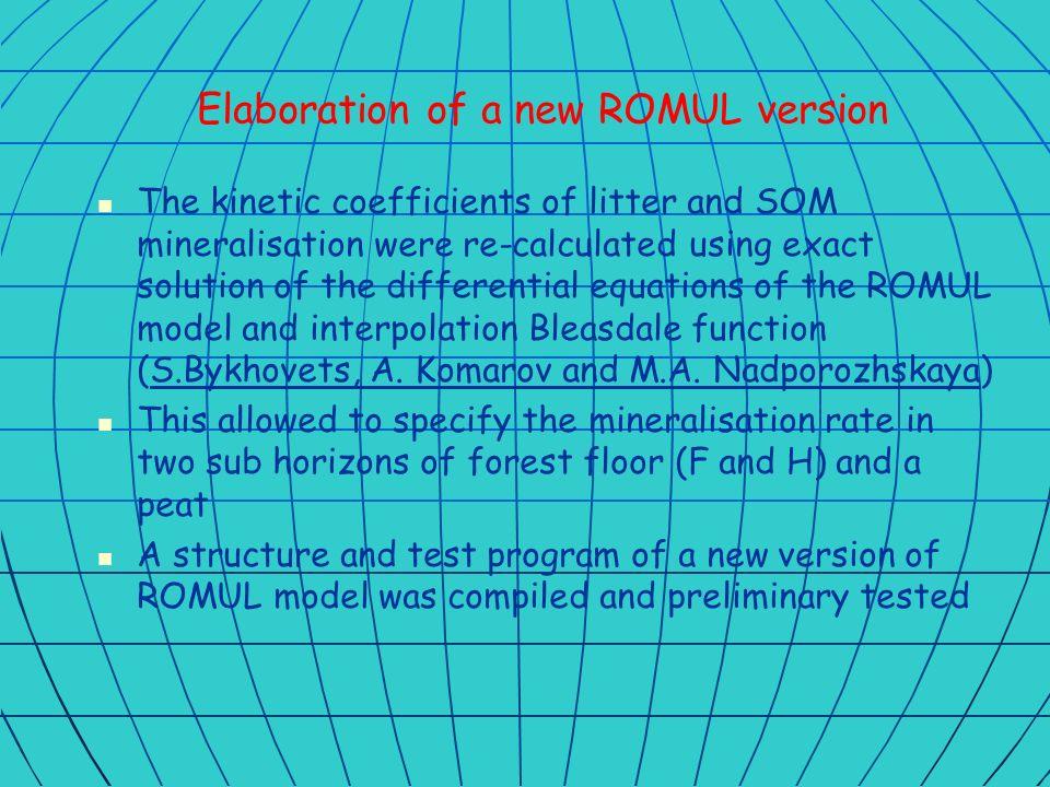 New version of ROMUL (Oleg) New version of ROMUL (Oleg)