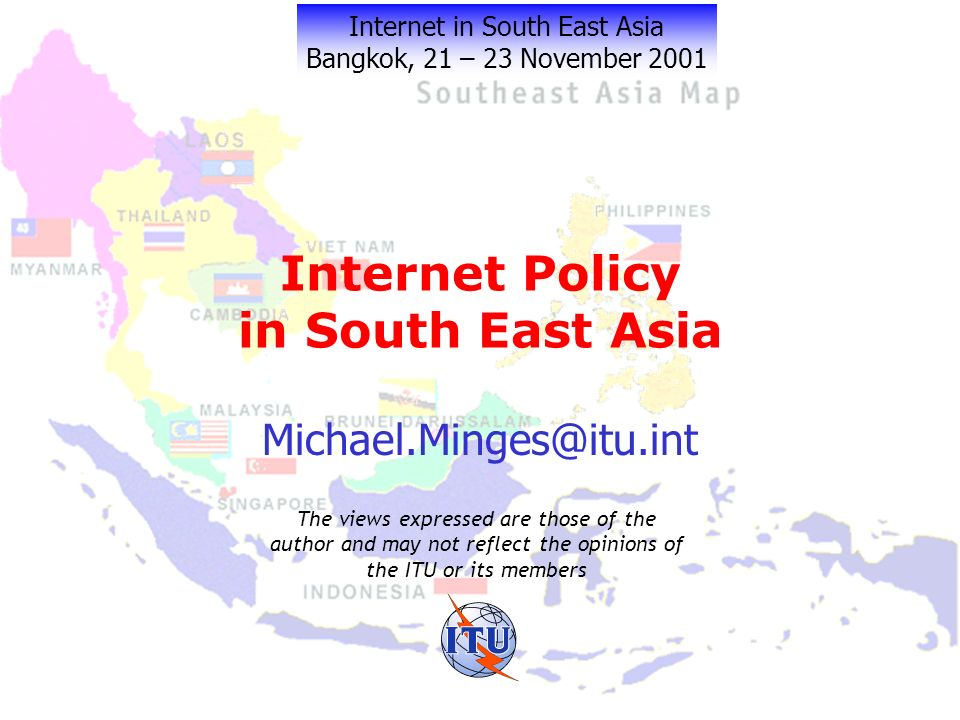 Myth and Reality Internet market is unregulated Competition is good Leave Internet to private sector Every country restricts market in one way or another Generally yes BUT incumbent operators may be able to provide lower price Internet access Fine if you only want the elite to use it