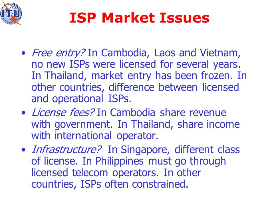Who are the ISPs.