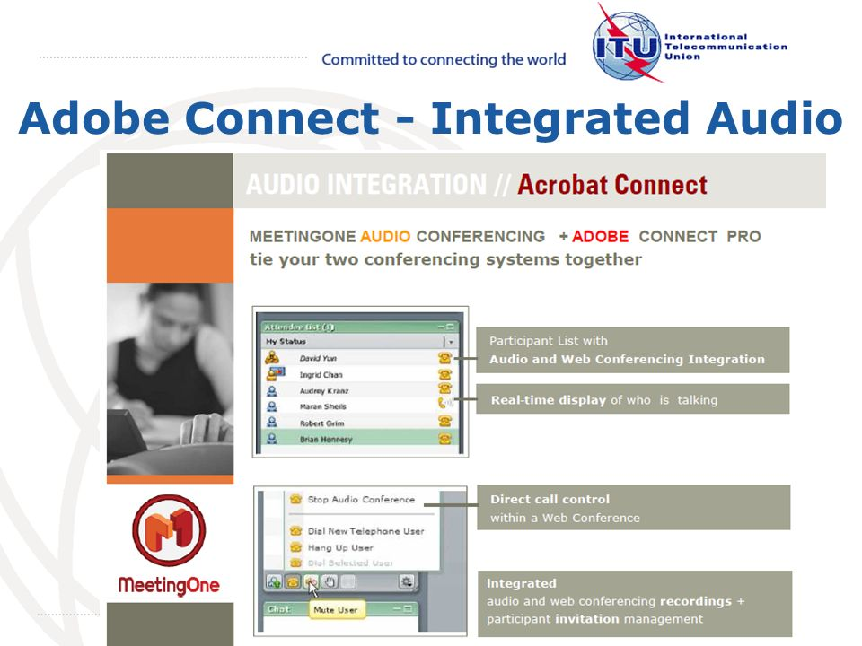 May 2008 October 2009 Adobe Connect - Integrated Audio