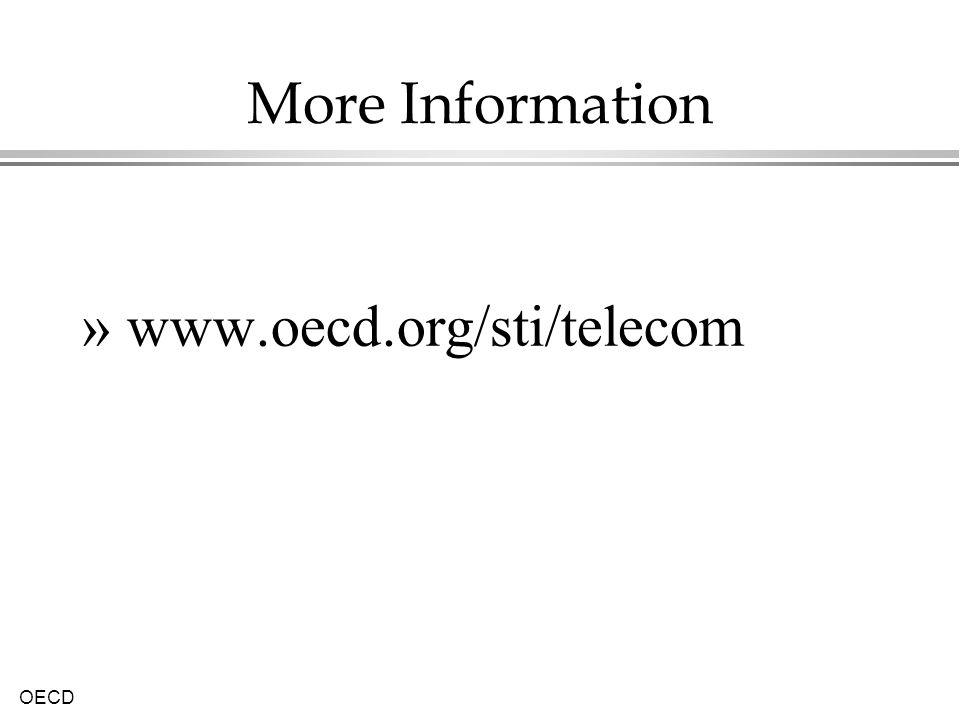 OECD More Information » www.oecd.org/sti/telecom