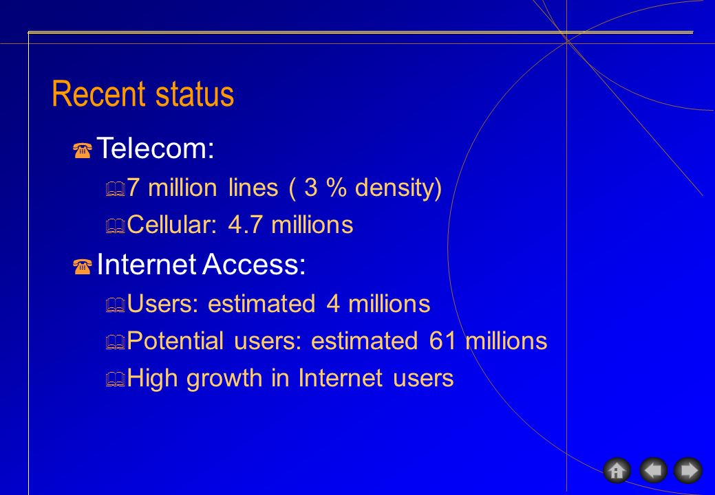 Program in ICT regulation Currently, no limitation on the number of ISP.