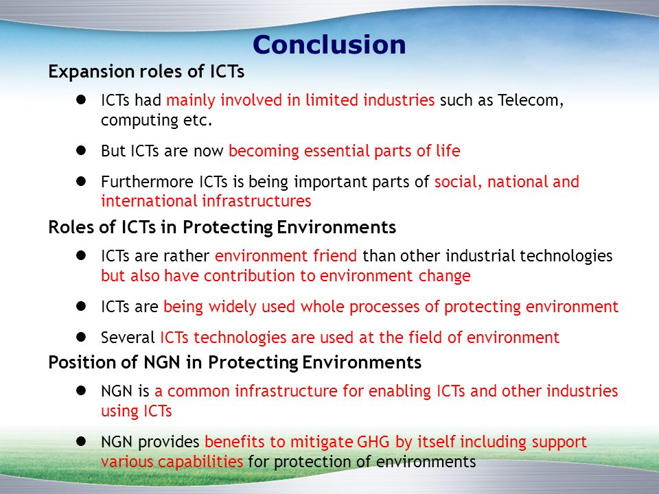 ICTs had mainly involved in limited industries such as Telecom, computing etc.