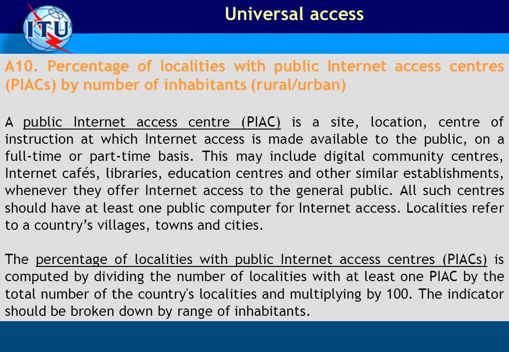 Universal access A10.