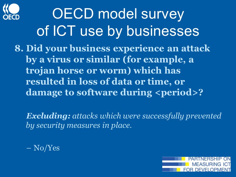 OECD model survey of ICT use by businesses 14.
