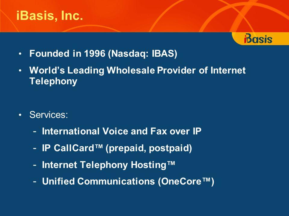 iBasis, Inc.