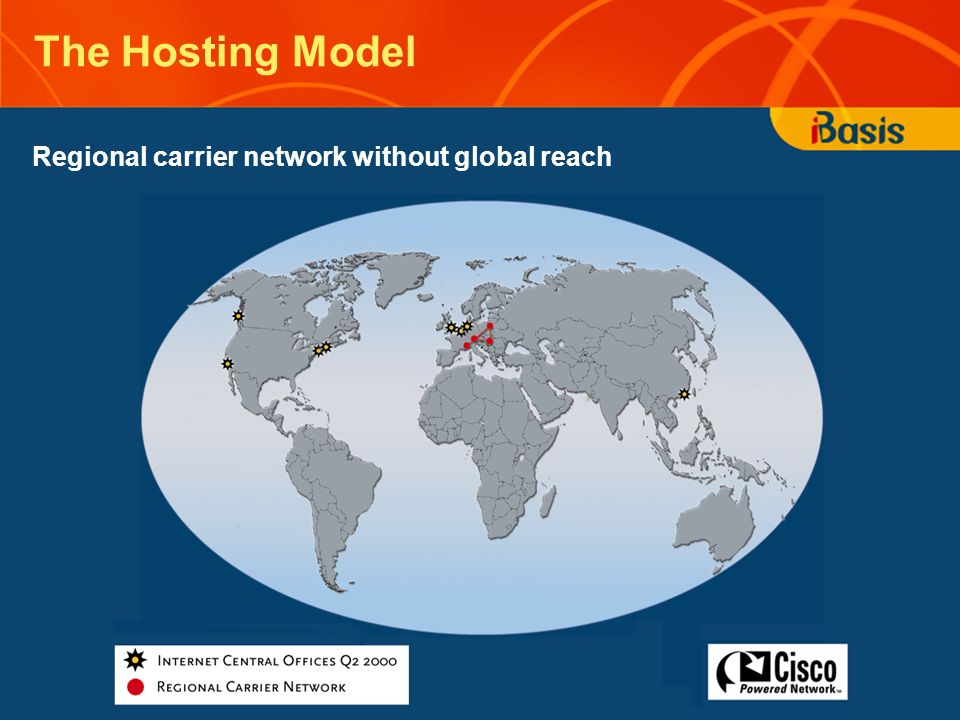 The Hosting Model Regional carrier network without global reach
