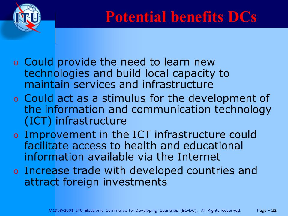 ©1998-2001 ITU Electronic Commerce for Developing Countries (EC-DC).