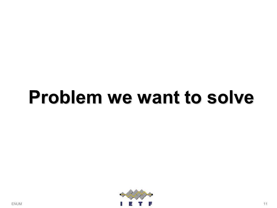 11ENUM Problem we want to solve 11ENUM