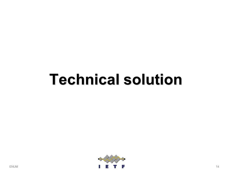 14ENUM Technical solution 14ENUM