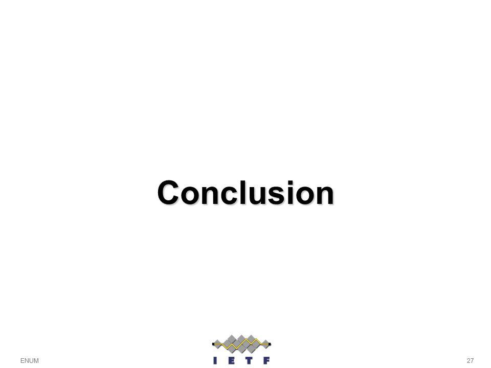 27ENUM Conclusion 27ENUM