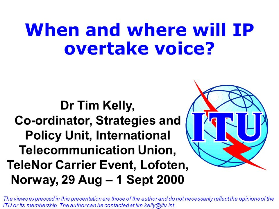 When and where will IP overtake voice.