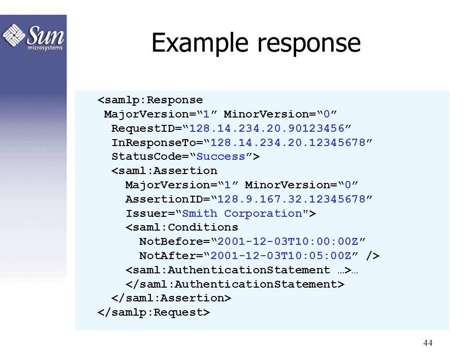 44 Example response …