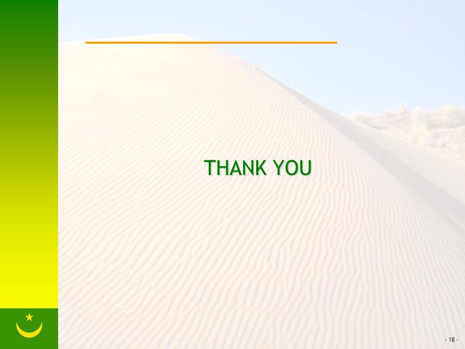 - 18 - THANK YOU THANK YOU