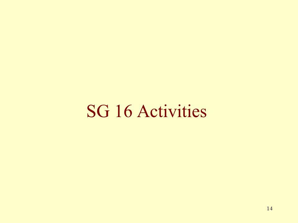 14 SG 16 Activities