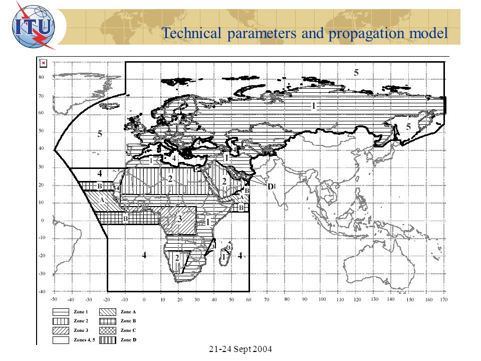 Technical parameters and propagation model RRC Workshop for CEE, CIS and Baltic States, Moscow, Sept 2004