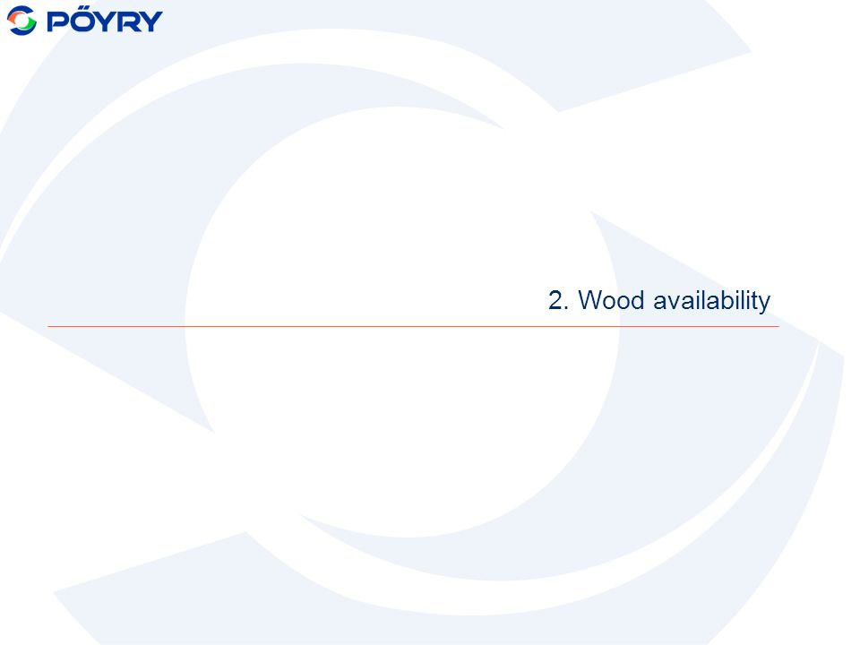 2. Wood availability