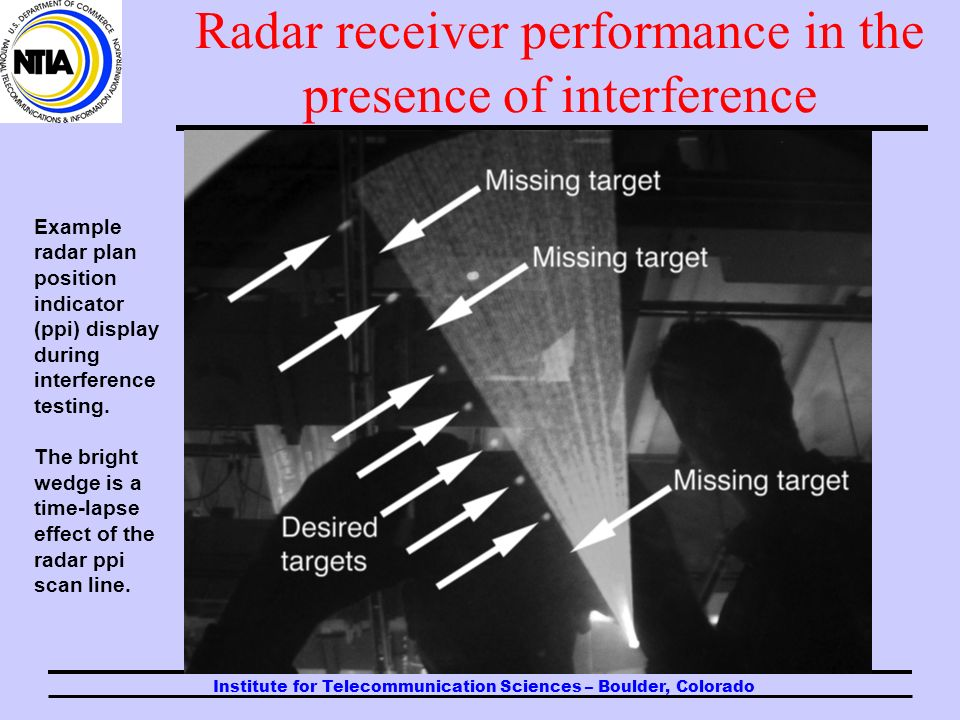 Institute for Telecommunication Sciences – Boulder, Colorado Radar receiver performance in the presence of interference In some EMC studies that have