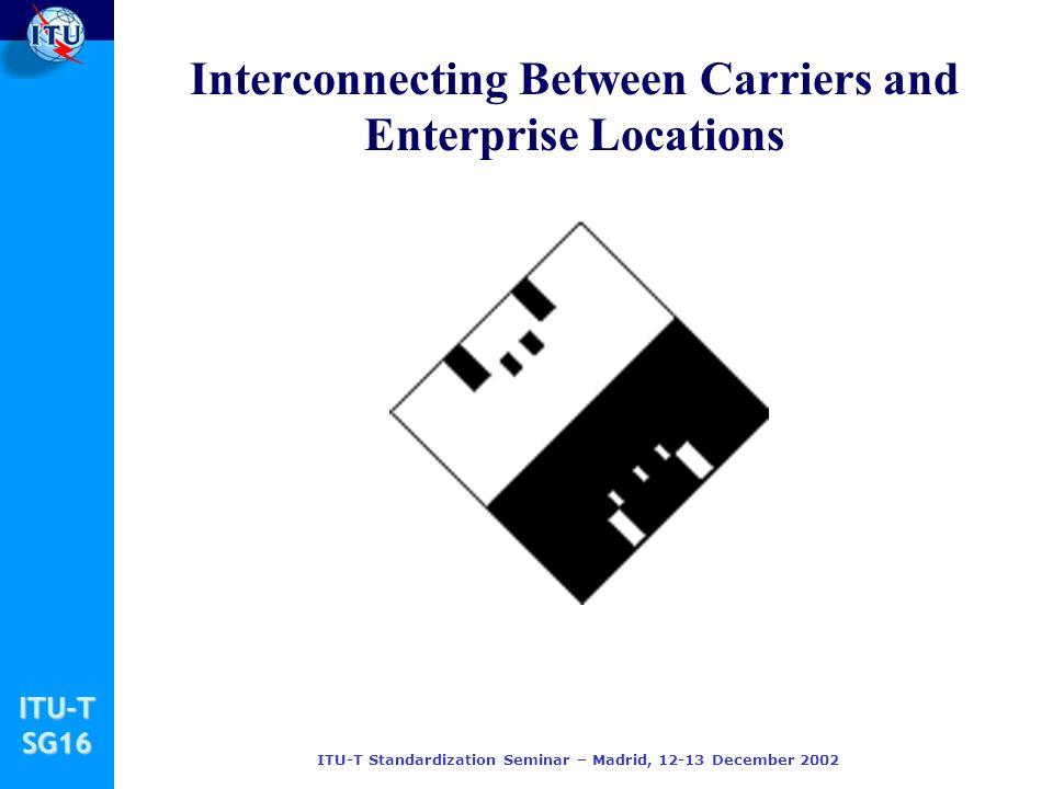 ITU-TSG16 ITU-T Standardization Seminar – Madrid, 12-13 December 2002 Interconnecting Between Carriers and Enterprise Locations