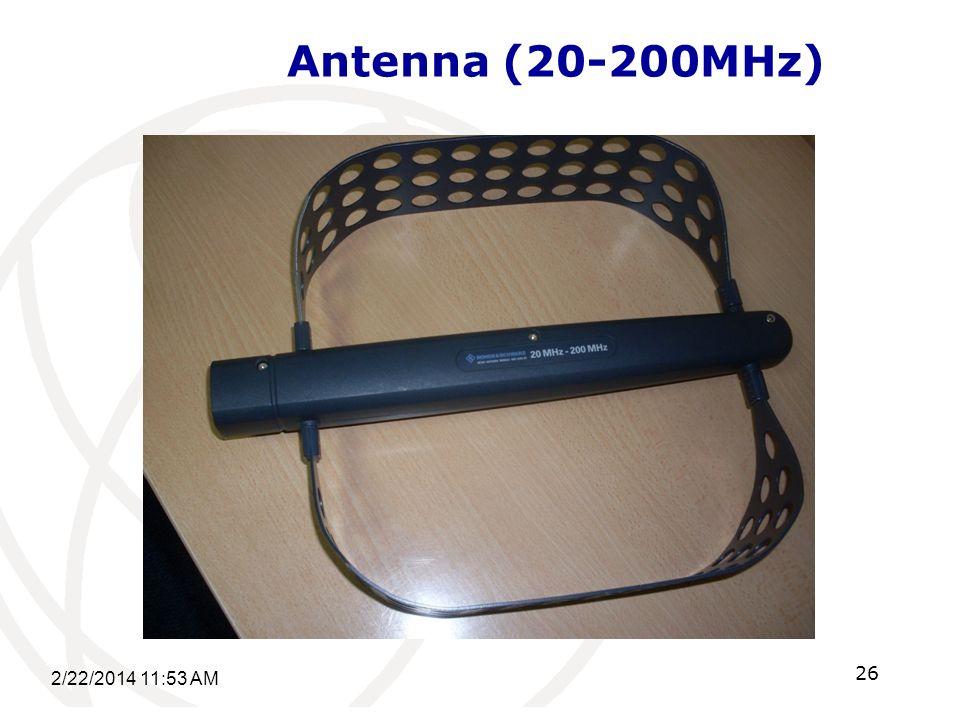 Antenna (20-200MHz) 2/22/2014 11:55 AM 26