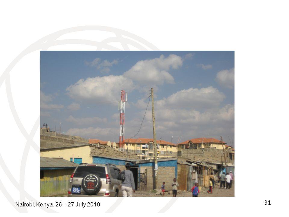 Nairobi, Kenya, 26 – 27 July 2010 31