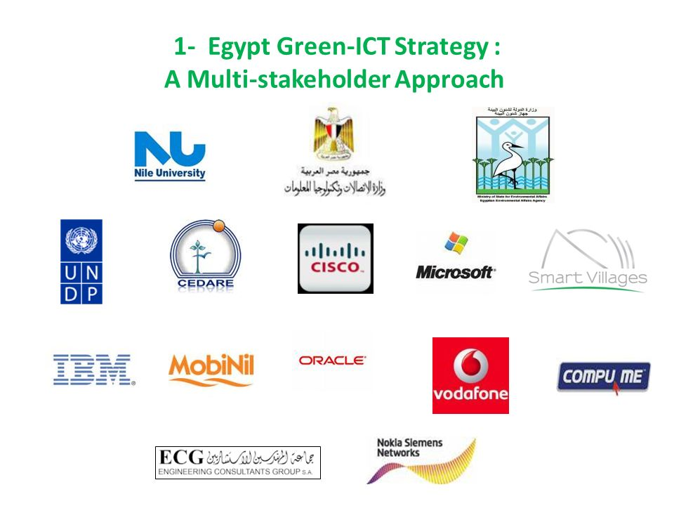 1- Egypt Green-ICT Strategy : A Multi-stakeholder Approach