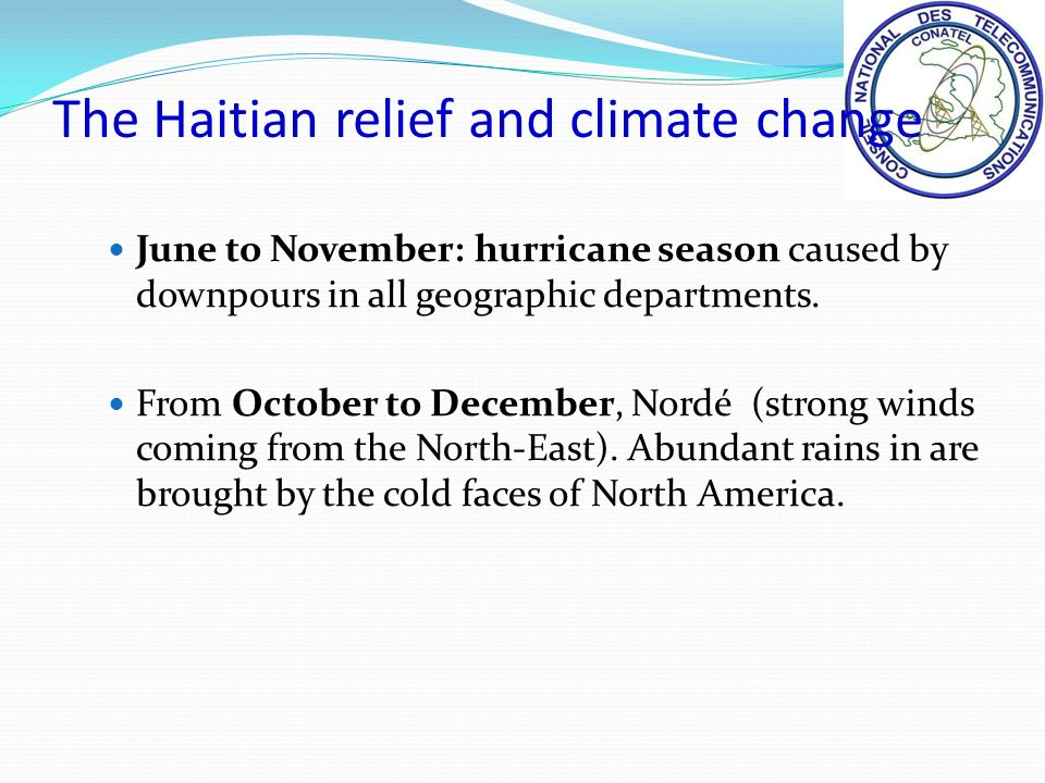 June to November: hurricane season caused by downpours in all geographic departments.