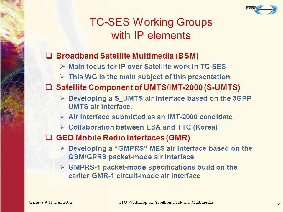Geneva 9-11 Dec 2002ITU Workshop on Satellites in IP and Multimedia 14 Close Rupert Goodings rlag@ecotel.demon.co.uk Thank you