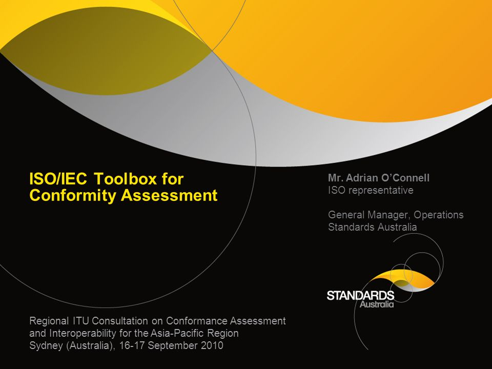 ISO/IEC Toolbox for Conformity Assessment Mr.