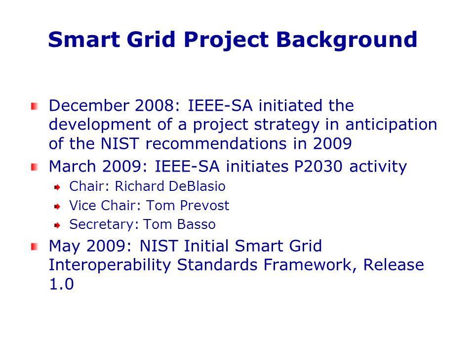 Global Commitment Smart Grid standardization will be a broad global collaborative effort across multiple communities Standards development organizations Government organizations Private sector