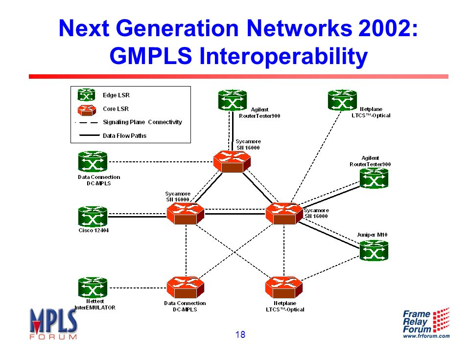 18 Next Generation Networks 2002: GMPLS Interoperability