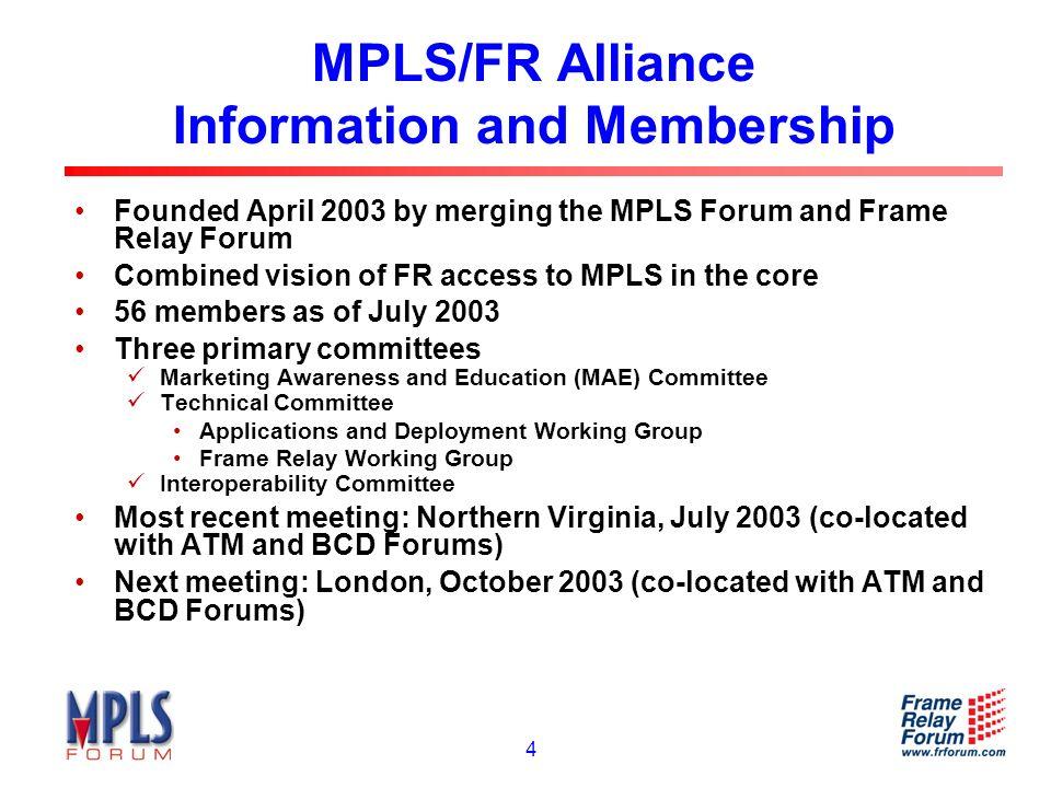 15 Voice Services over MPLS (ITU-T Y.1261) Voice Physical Layer Link Layer MPLS Layer Voice over MPLS MPLS Forum IA 1.0 I.366.2 Voice Trunking over MPLS IP ATM over MPLS (from IETF and ITU-T) AAL2 (I.363.2) AAL1 (I.363.1) AAL5 (I.363.5) UDP RTP Alliance IETFITU-T Legend: