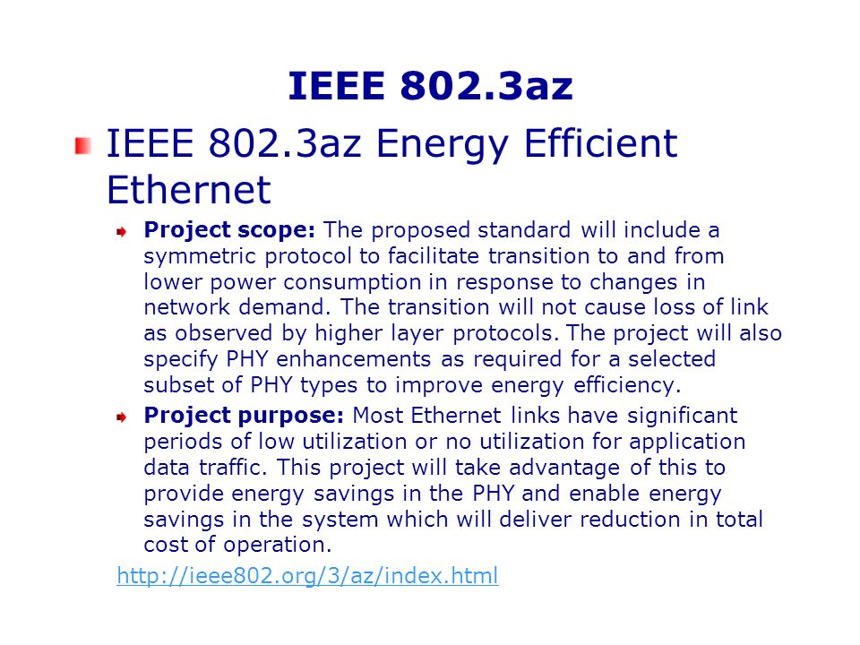 IEEE 1680 Series Electronic product environmental assessment (EPEAT®) Original Publication IEEE 1680-2006, IEEE Standard for Environmental Assessment of Personal Computer Products, including Laptop Personal Computers, Desktop Personal Computers, and Personal Computer Monitors Being revised to split into: Umbrella standard IEEE P1680 Standard for Environmental Assessment of Electronic Products P1680.1 for Standard for Environmental Assessment of Personal Computer Products, Including Notebook Personal Computers, Desktop Personal Computers, and Personal Computer Displays P1680.2 Imaging Equipment (PAR under development) P1680.3 Television (PAR under development) Future plans according to 2007 roadmap include servers and mobile devices http://www.epeat.net/StandardsDevelopment.asp x