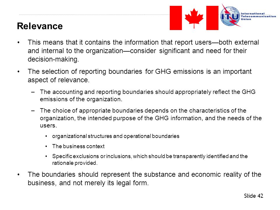 Slide 42 This means that it contains the information that report usersboth external and internal to the organizationconsider significant and need for