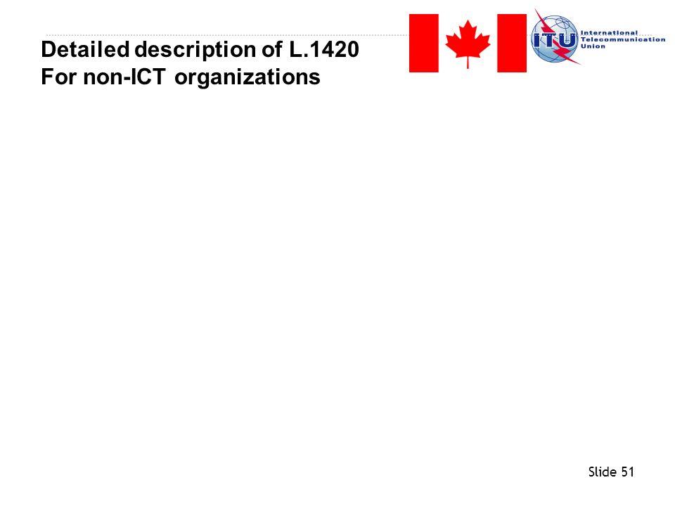 Slide 51 Detailed description of L.1420 For non-ICT organizations
