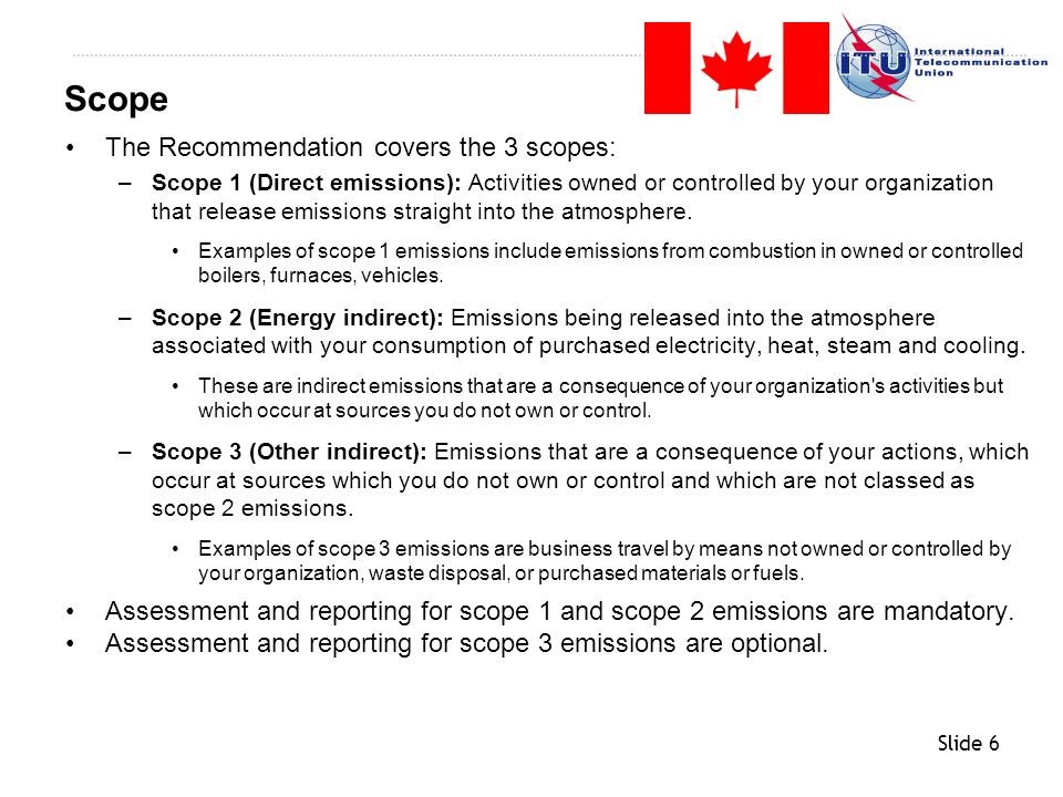 Slide 7 General Concepts Recommendation L.1420 For ICT organizations Recommendation L.1420 for Non-ICT organizations Conclusions Back-up information Agenda
