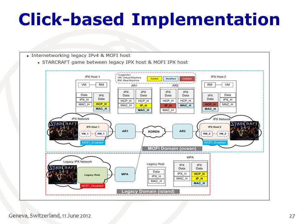 Click-based Implementation Geneva, Switzerland, 11 June 201227