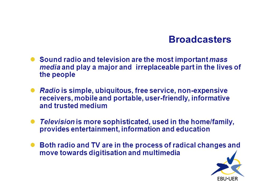 Content The choice of TV services available to the average consumer has increased dramatically, but expenditure on new programmes has not kept pace with this expansion Traditional broadcast services (i.e.