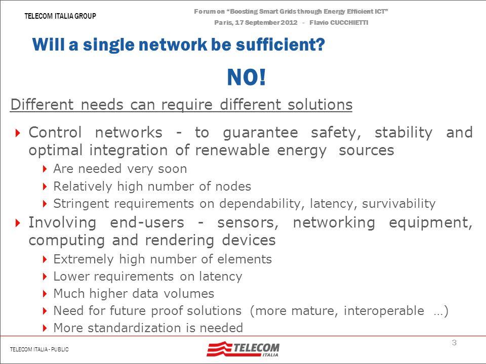 2 | Renato Scotti TELECOM ITALIA GROUP TELECOM ITALIA - PUBLIC Forum on Boosting Smart Grids through Energy Efficient ICT Paris, 17 September 2012 - F