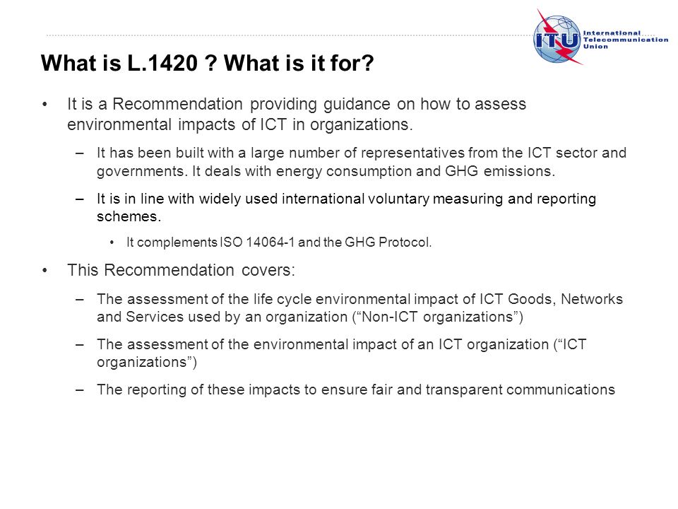 What is L.1420 . What is it for.