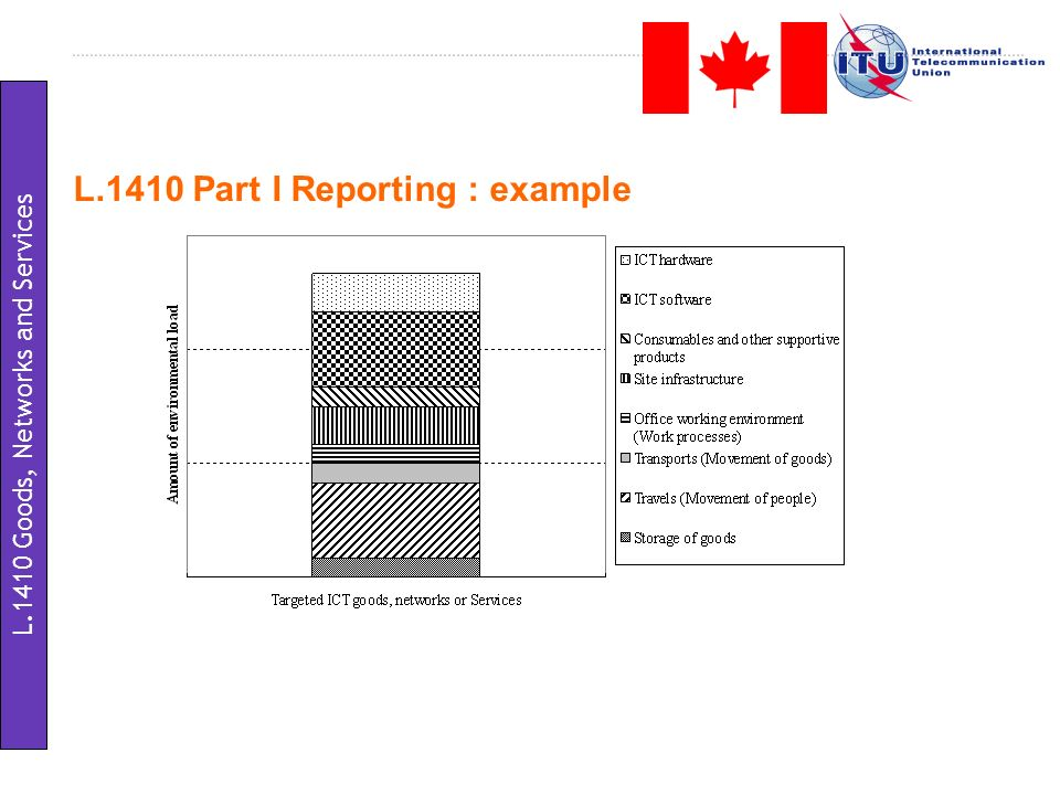 L.1410 Part I Reporting : example L.1410 Goods, Networks and Services