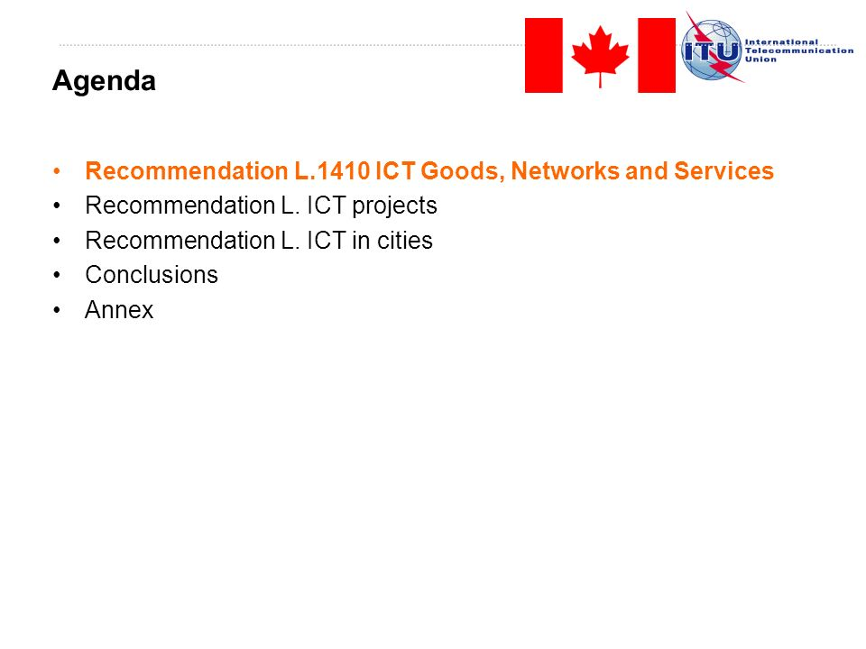 Recommendation L.1410 ICT Goods, Networks and Services Recommendation L.