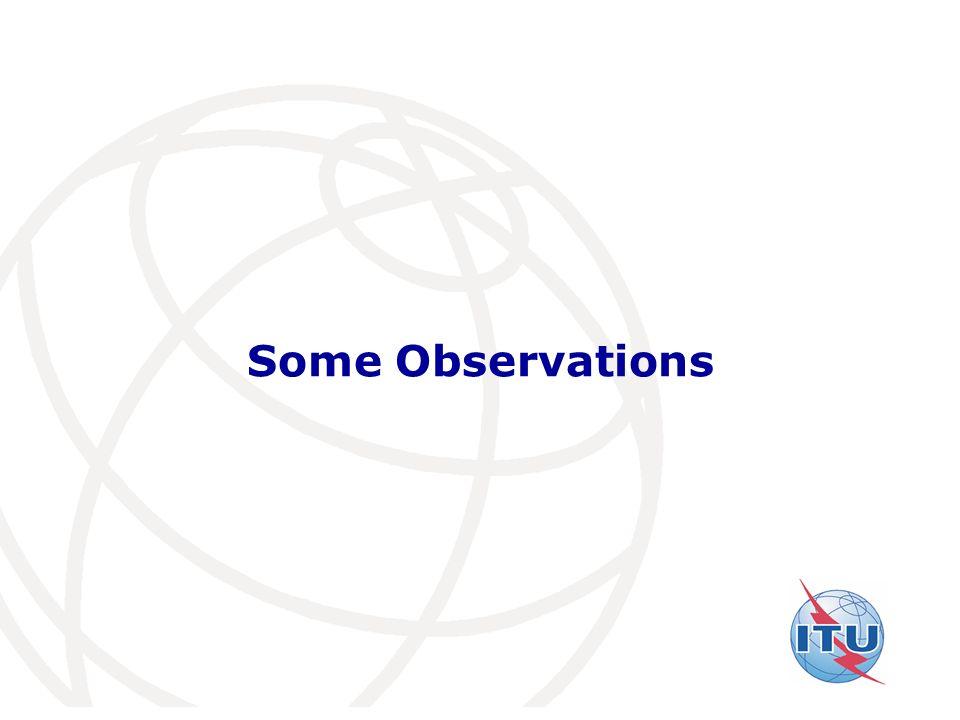International Telecommunication Union Some Observations
