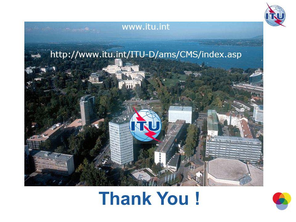 www.itu.int http://www.itu.int/ITU-D/ams/CMS/index.asp Thank You !