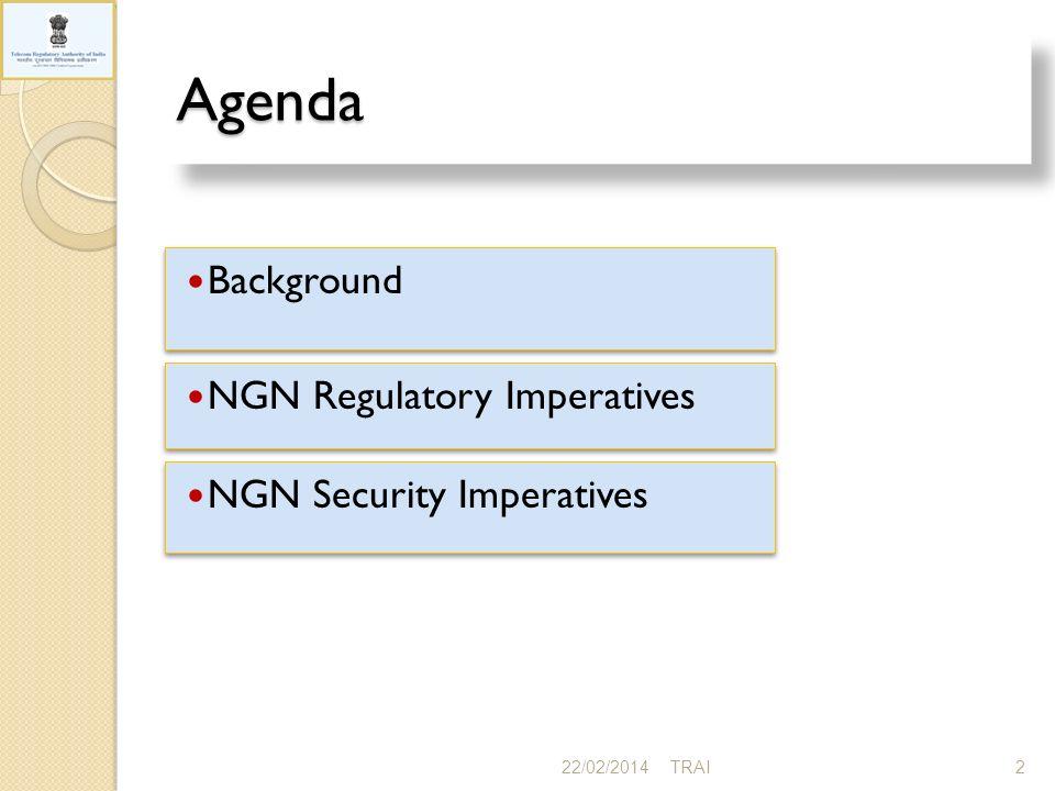 NGN- Regulatory Imperatives 22/02/201413TRAI