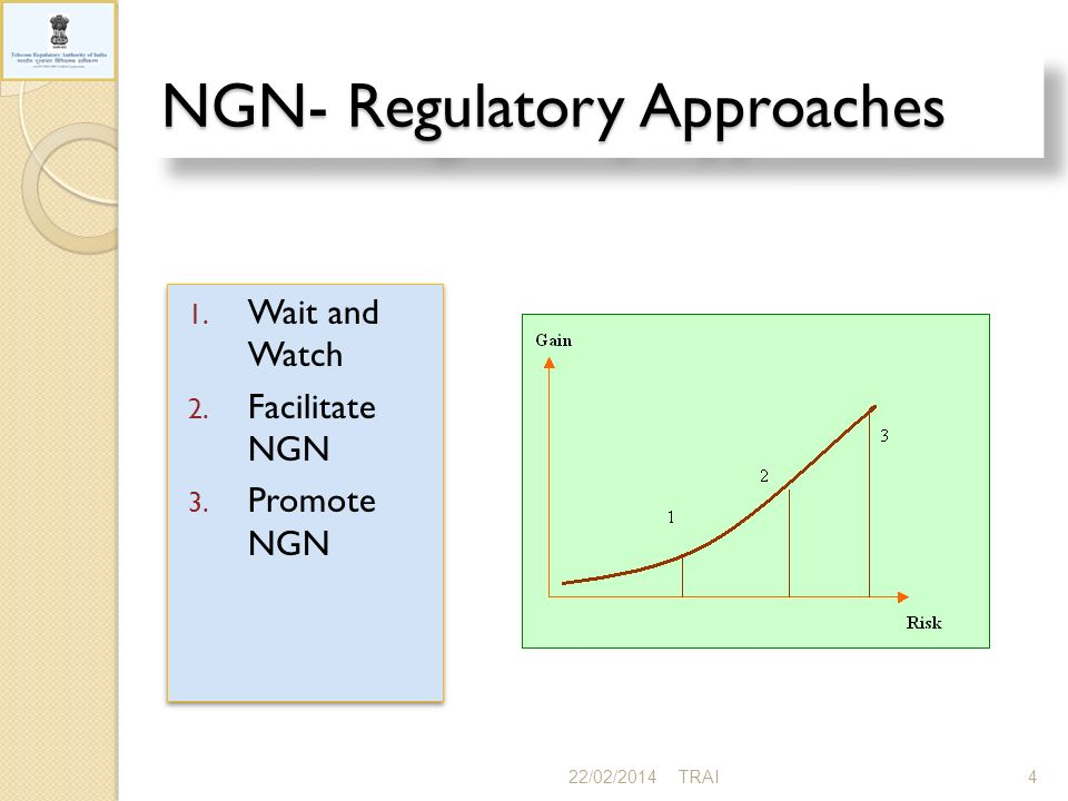 NGN- Regulatory Approaches 22/02/20144TRAI