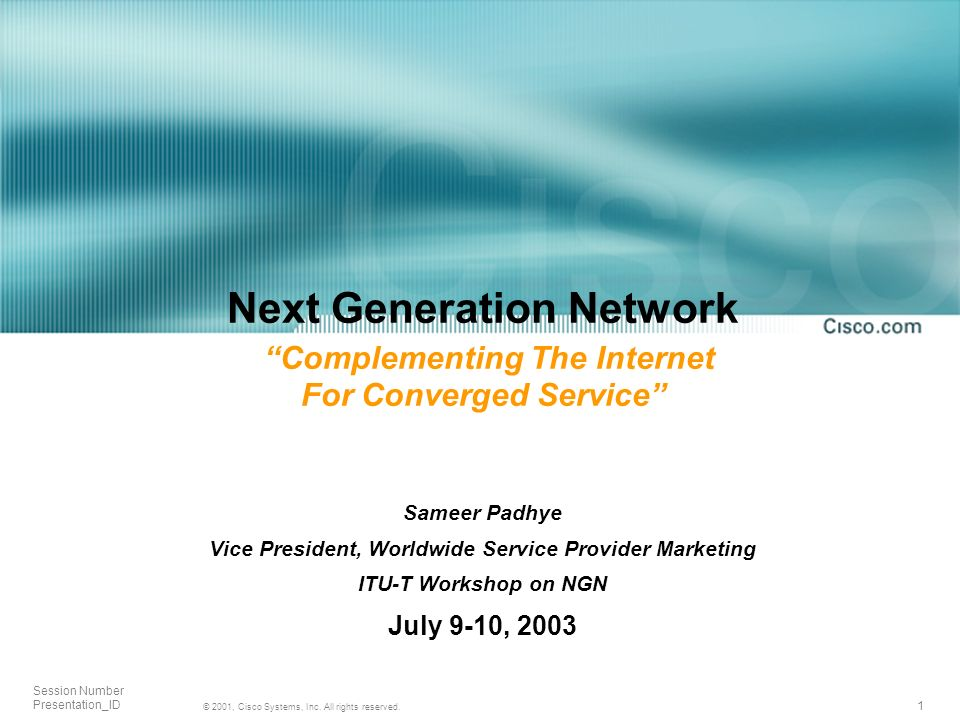 1 © 2001, Cisco Systems, Inc. All rights reserved.